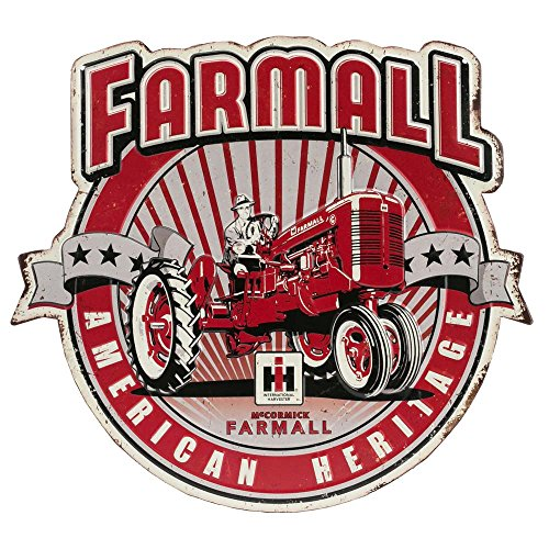 (Open Road Brands American Heritage Farmall Die Cut Embossed Tin Sign)