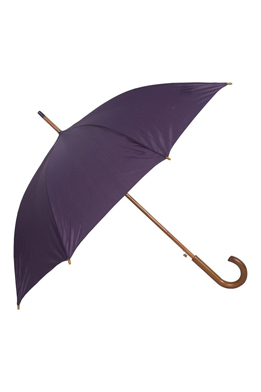 Mountain Warehouse Classic Umbrella - Plain All Season Sun Umbrella Black 023641005001