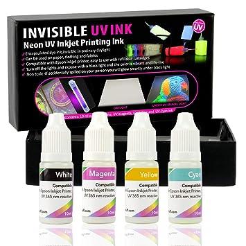 Tinta UV Invisible para impresoras de inyección de Tinta, Juego de ...