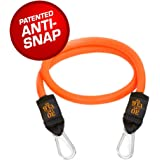 Bodylastics individual orange elastic (handles not included) - up to 60 lbs. of tension with heavy duty carabiner clips and anti-snap technology