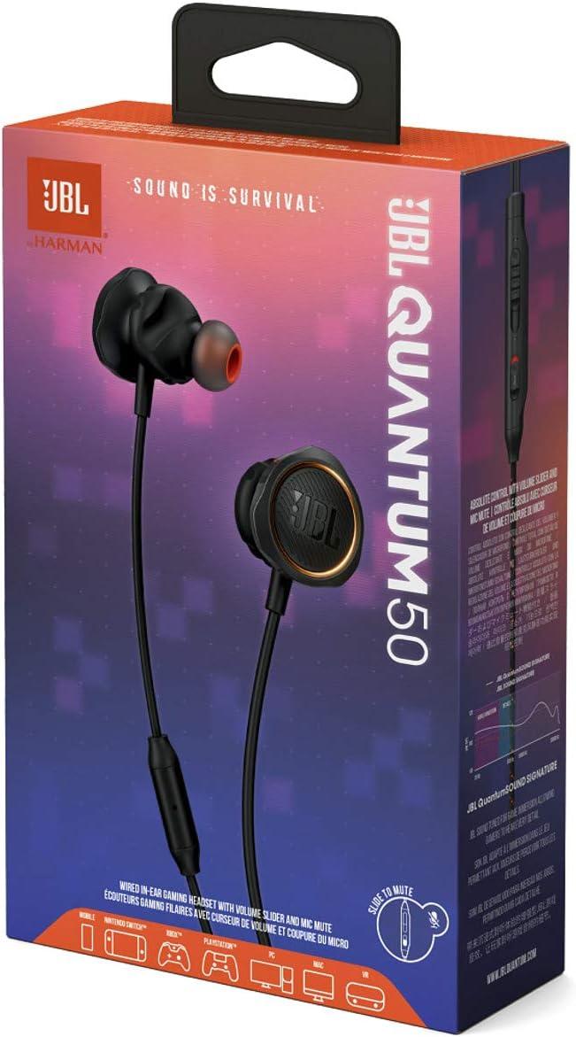 Jbl Quantum 50 Wired In Ear Gaming Kopfhörer Mit Elektronik