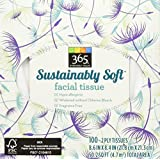 365 Everyday Value Sustainably Soft Facial Tissue, 100 Count