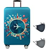 TRAVEL KIN Luggage Cover Washable Suitcase Protector Anti-scratch Suitcase cover Fits 22-32 Inch Luggage, M