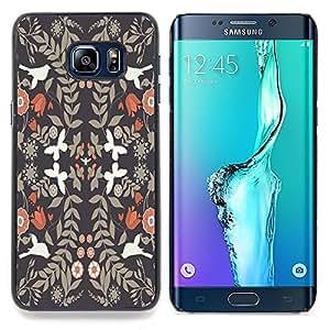Stuss Case / Funda Carcasa protectora - Papel pintado de la vendimia Flores White Doves - Samsung Galaxy S6 Edge Plus / S6 Edge+ G928