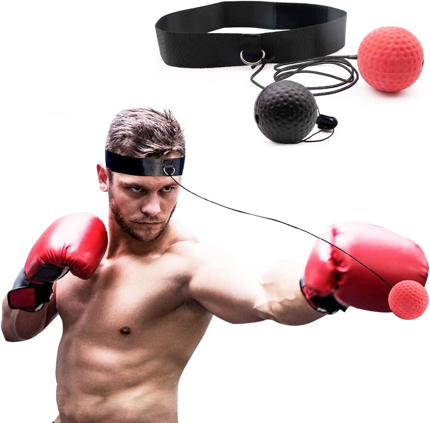Boxing Reflex Ball Suspension Fight Ball Vacuum Chuck Boxing Ball Bags Quick UK