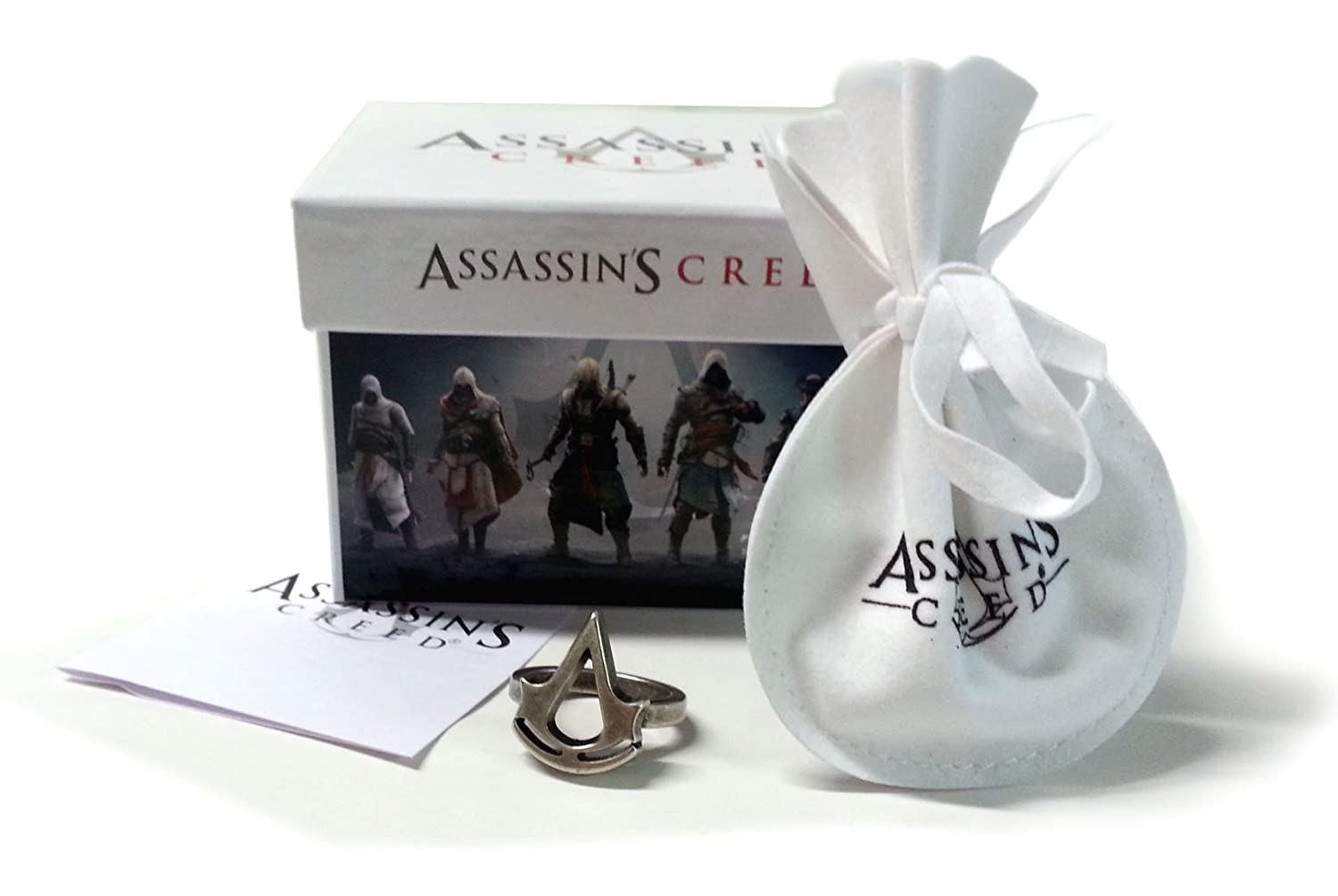 Deluxe Adult Costumes - Assassin's Creed Crest Metal Logo Ring 19 mm.