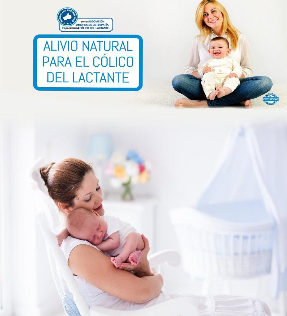 Pijama Bebé AntiCólico de Algodón 100% Orgánico Con Pie - Perfecto para Aliviar Cólicos, Gases, Estreñimiento y Dolores de Estómago de Bebés - Incluye Pack ...