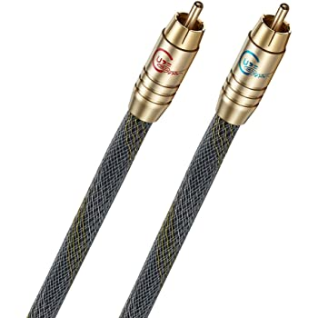 RCA Cable, Guzi HiFi Audio Interconnect Cable, RCA to RCA Audio Cable, 3