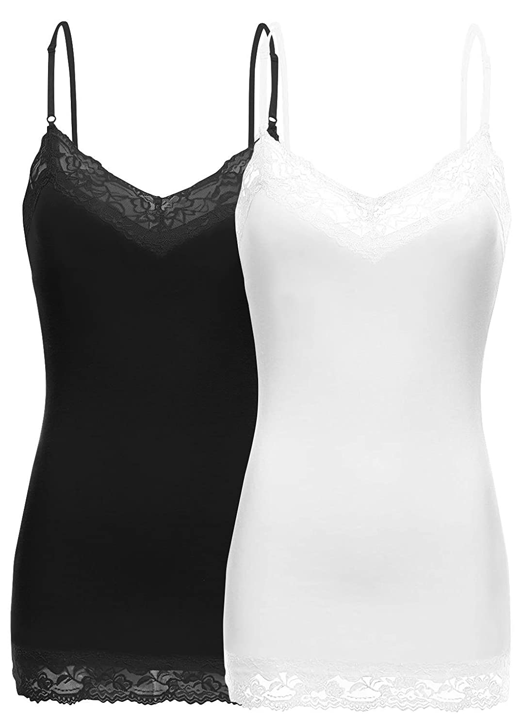e632457e7358aa DURABLE AND COMFORTABLE - Our lace tank tops for women are loved by all for  their comfort and style. Style 301 is composed of 95% cotton