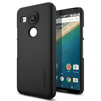 Spigen Thin Fit SGP11759 - Funda dura para Nexus 5x, ajuste exacto, color negro