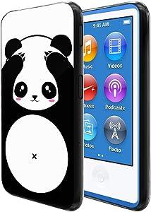 FINCIBO Case Compatible with Apple iPod Nano 7 (7th Generation), Flexible TPU Soft Gel Skin Protector Cover Case for iPod Nano 7 - Panda Bear Style