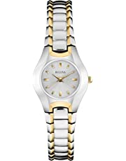 Bulova Women's 23mm Classic Two-Tone Gold and Silver Watch