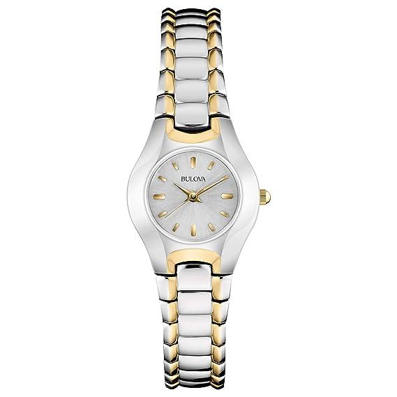Bulova 98T84 - Reloj de Pulsera Mujer, Latón, Color Plata
