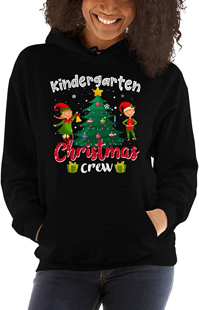 ute Elf Noel Tree Kindergarten Christmas Crew Teacher Gift Unisex Hoodie