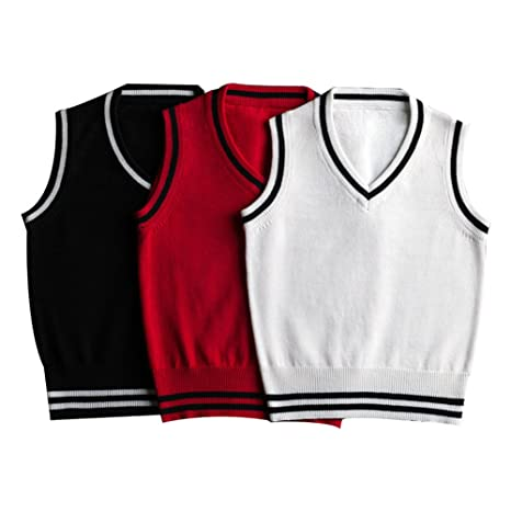 5ca50a417 Amazon.com  Milkiwai Little Baby Boy Sweater Knit Vest Sleeveless ...