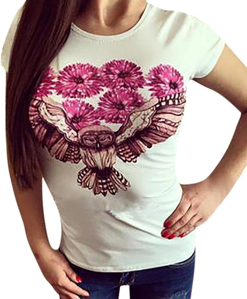 Mujer Camisetas, YUYOUG Mujeres Niñas Más Tamaño Animal Print Tees Manga Corta Blusa Tops: Amazon.es: Ropa y accesorios