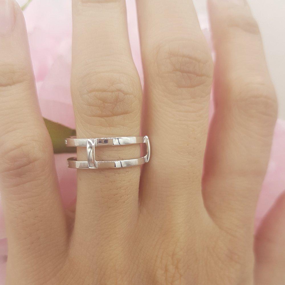 Dazzlingrock Collection 0.22 Carat (ctw) 14K Round Diamond Anniversary Wedding Band Guard Ring 1/4 CT, White Gold, Size 6 by Dazzlingrock Collection (Image #6)