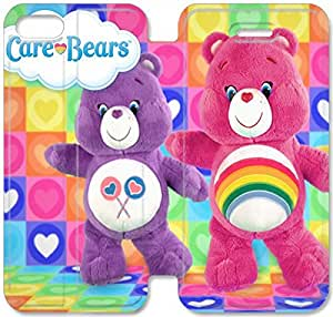 Personality Design Care Bear-25 iPhone 4 4S Leather Flip Case