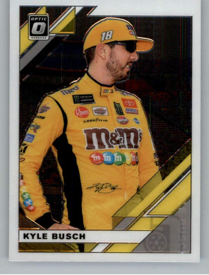 2020 Donruss Racing Optic Carolina Blue Wave #21 Kyle Busch M/&Ms//Joe Gibbs Racing//Toyota Official NASCAR Trading Card made by Panini America