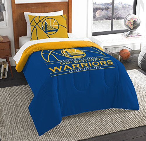 The Northwest Company Officially Licensed NBA Golden State Warriors Reverse Slam Twin Comforter and Sham by The Northwest Company