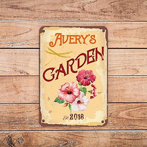 Fhdang Decor Custom Garden Sign, Personalized Garden Sign,Customizable Garden Sign, Custom Outdoor Sign,Metal Sign, 8