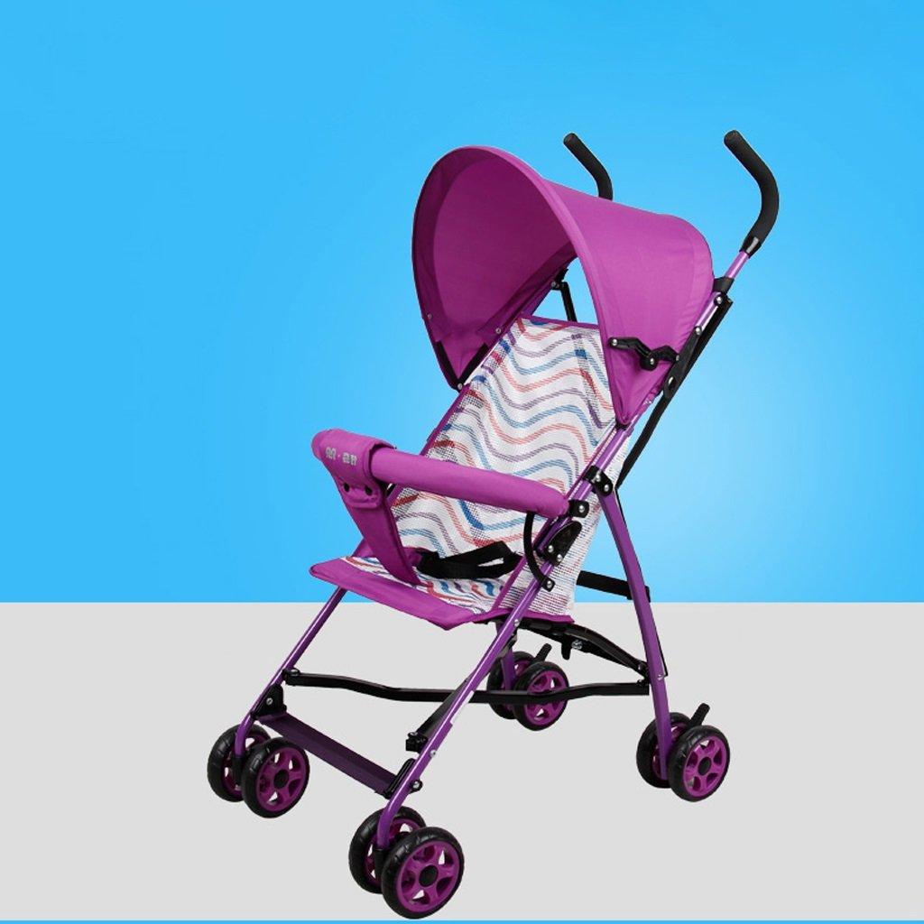 ベビーカー超軽量ポータブル折りたたみ式ベビーカー(青)(紫)58 * 37 * 108cm ( Color : Purple ) B07BTKTDSS