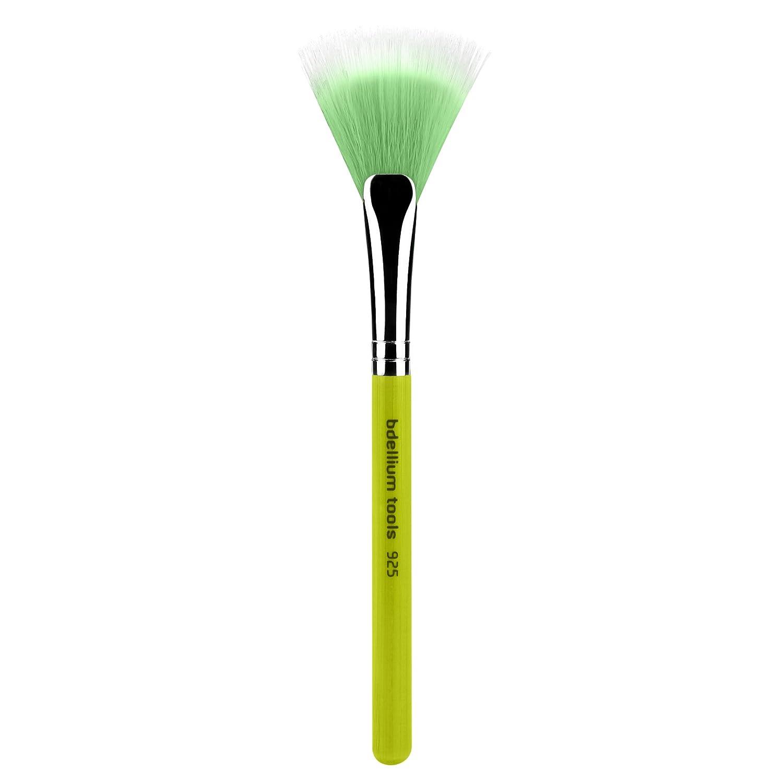 Bdellium Tools Professional Makeup Brush Green Bambu Series Duet Fiber Fan 925, 1 Count BD-BAMBU-925