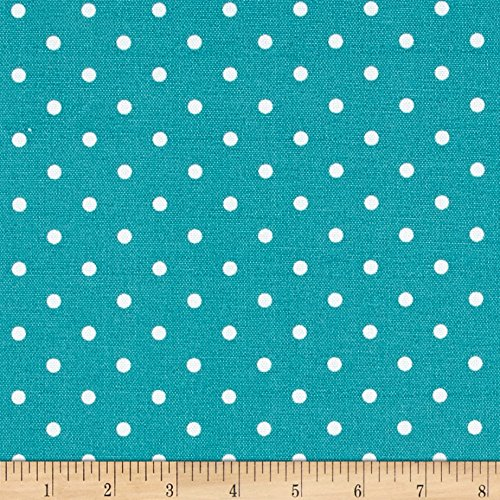 Premier Prints 0464919 Indoor/Outdoor Mini Dot Ocean Fabric by The Yard ()