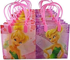 12pc Disney Tinkerbell Candy Bags Loot Goody Gift Bags Birthday Party Favors