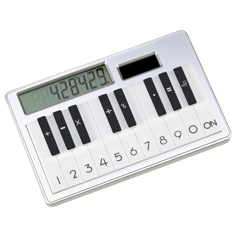 Solar Piano Key Look Calculator Desk Accessory Gift Furniture Creations 14376