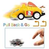DeepLittleFish Pull Back Vehicles,6 Pack Race Car