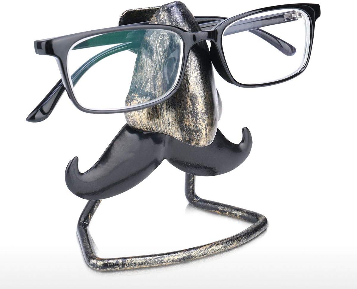 Soporte para Gafas de Sol dise/ño de Nariz Grande y Barba Metal con Forma de Barba Tooarts