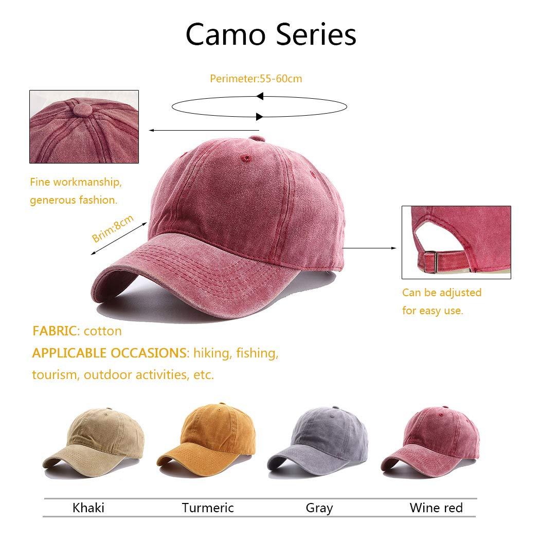 UMIPUBO Cappello da Baseball Cappellino Baseball da 6 Pannelli con Fori di Ventilazione Ricamati in Cotone Berretto Sportivo Berretto da Baseball Cappelli