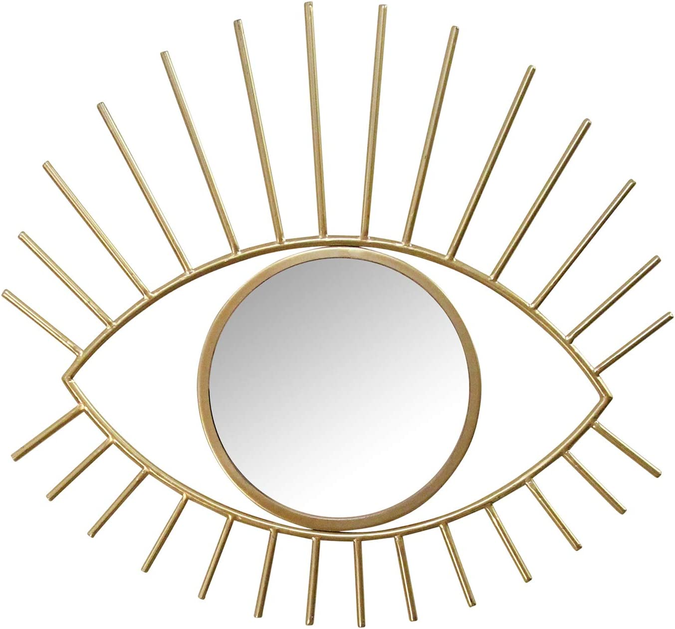 Stratton Home Décor Stratton Home Decor Gold Metal Eye Wall Mirror