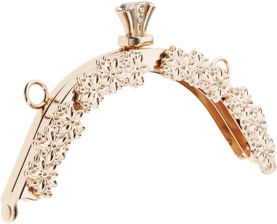 13cm Halbrunde Taschenverschluss Taschengriff Clip Taschenb/ügel Beutel Verschluss Metall Taschen Geldb/örse Rahmen Schwarz
