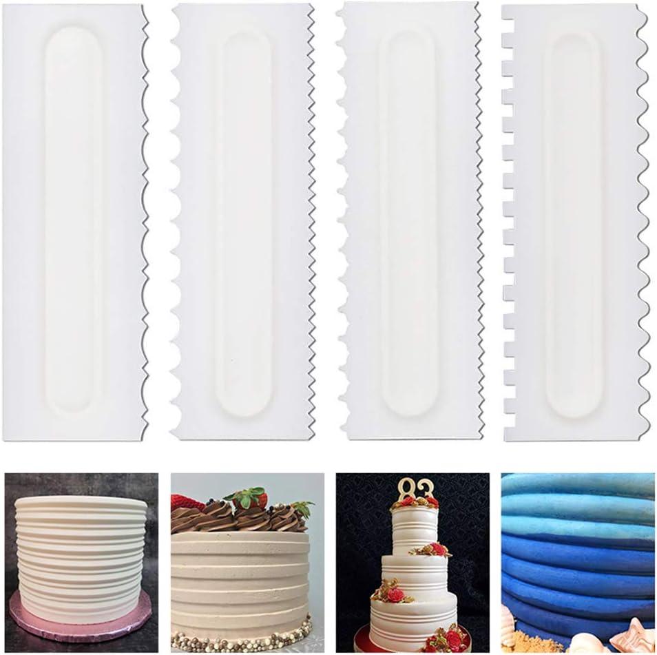 7 Pcs Cake Scraper Decorating Comb Icing Smoother Cake Textures Baking Tool