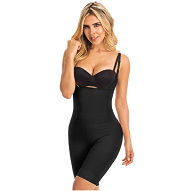 Laty Rose Butt Lifter Shapewear Open Bust Fajas Colombianas Reductoras Black XL