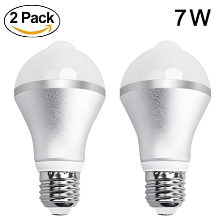 Aukora 7W Motion Sensor Lights Bulb   E26/E27 Motion Activated Led Dusk To  Dawn