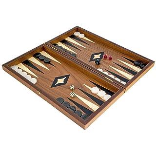 Compact Noix et Érable Backgammon Set