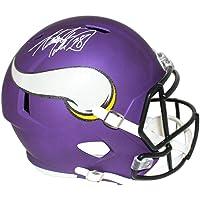 $431 » Adrian Peterson Autographed Minnesota Vikings Speed Replica Helmet BAS 25092 - Autographed NFL Helmets
