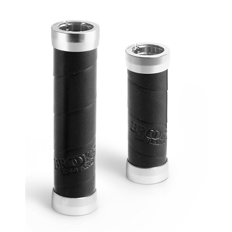 Brooks Slender Lenker Griffe Leder 100 130mm Lenkergriffe 100-130 mm, Farbe schwarz