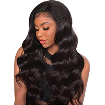 0c54b42ec4d Youth Brazilian Body Wave 360 Lace Front Wigs For Women Pre Plucked with  Baby Hair 130% Density...