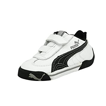 buy popular 78418 9f32b Puma SPEED CAT 2.9 LOW V Black White Leather Junior Sneakers Shoes