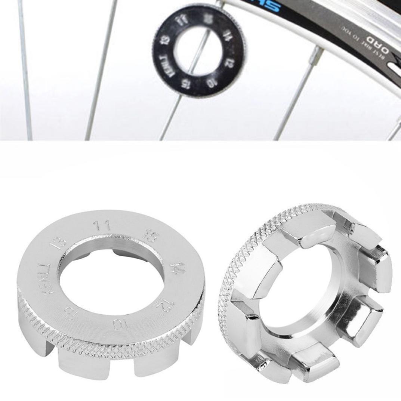 Boddenly Bike Bicycle Repair Tool,Bicycle 8 Way Spoke Nipple Key Bike Cycling Wheel Rim Spanner Wrench Repair Tool