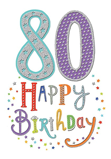 Tarjeta de felicitación de 80 cumpleaños para hombres o ...