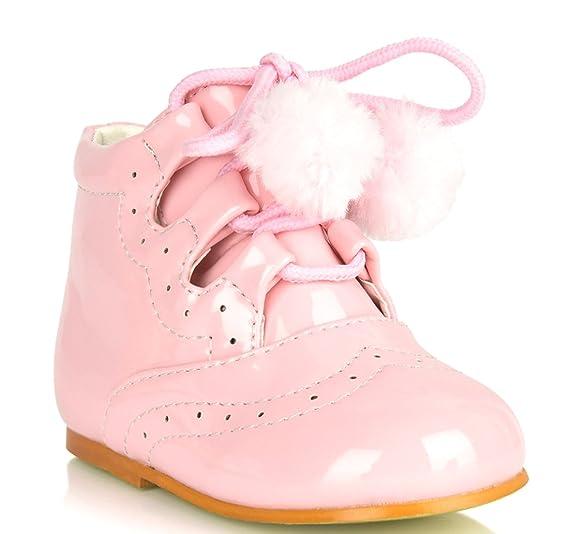 1d484c8132b4c Amazon.com: Girls Bridesmaids Pom Pom Party Shoes Patent Shoes ...