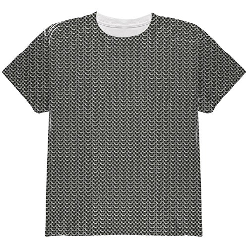 Unisex Chainmail (Halloween Chainmail Costume All Over Youth T Shirt Multi YMD)