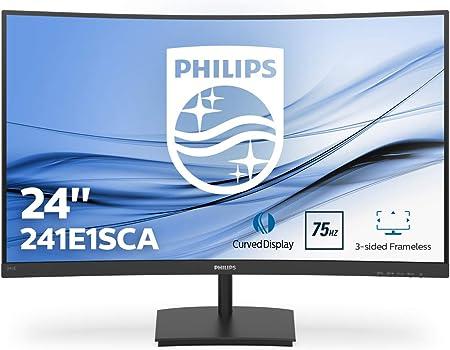 Philips 241e1sca 59 Cm Curved Monitor Schwarz Amazon De Computer Zubehor