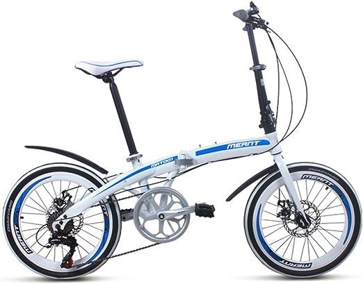 Bicicletas Plegable Cambio Adulto Desplazamiento 7 velocidades de ...