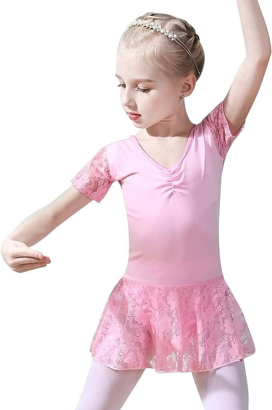 Justaucorps de danse Happy Cherry pour enfants /à manches longues avec rayures scintillantes